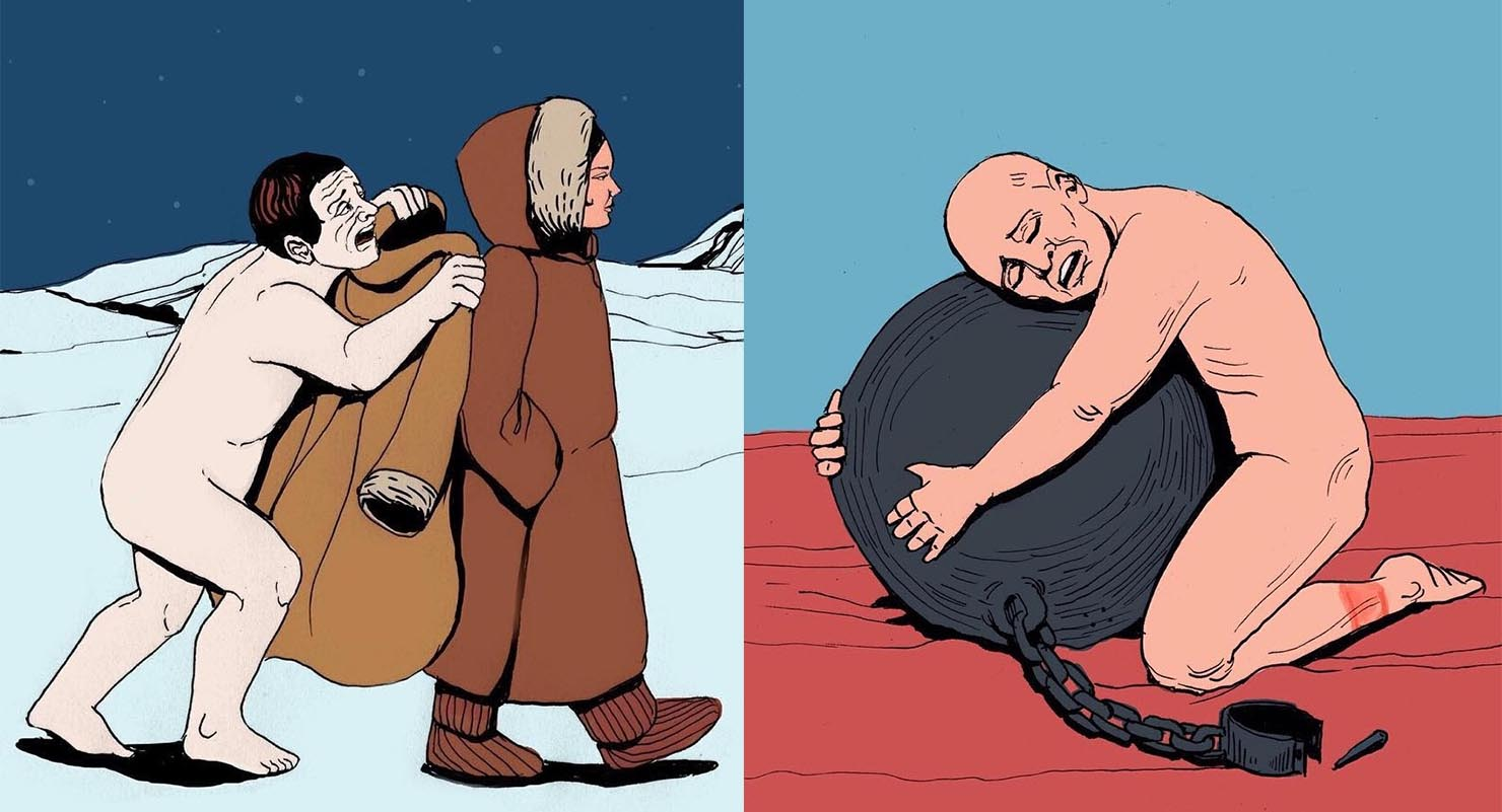 Powerful Contradictory Illustrations Telling The Truth About People And Society