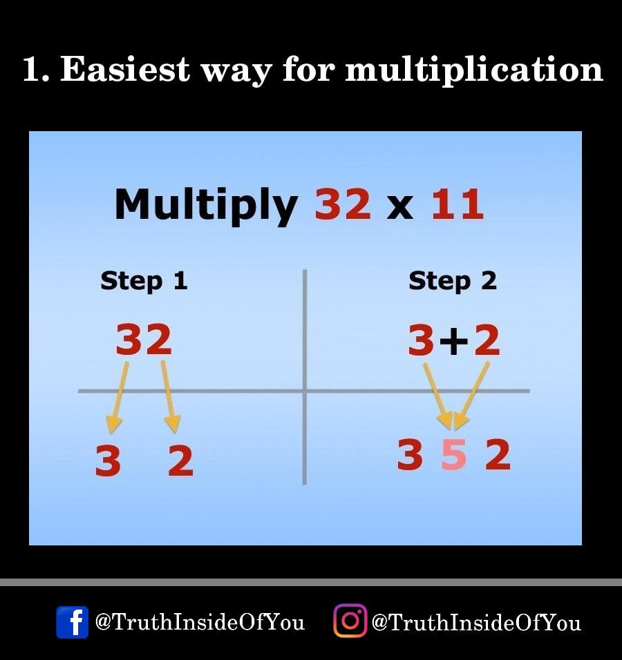 1. Easiest way for multiplication