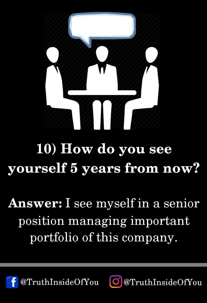 10. How do you see yourself 5 years from now_