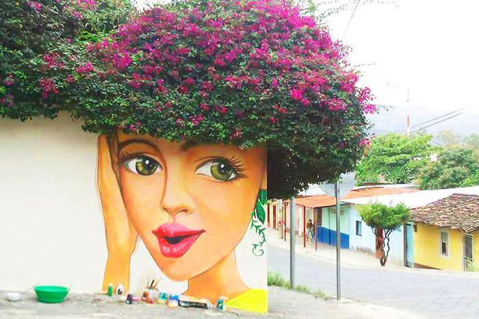 15+ Amazing Photos Of Street Art Fusing With Nature-1