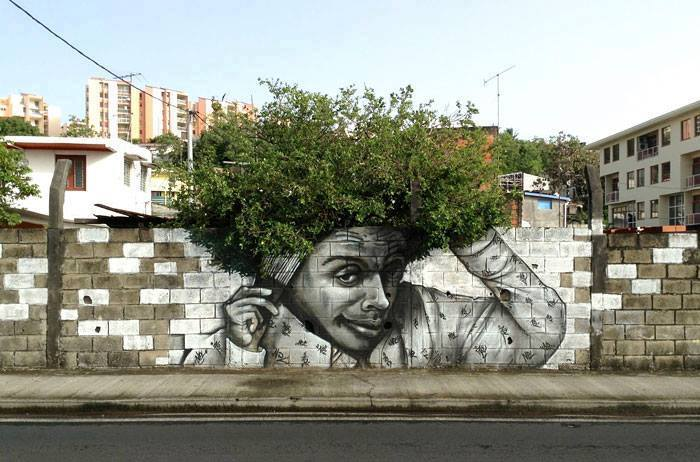 15+ Amazing Photos Of Street Art Fusing With Nature-12