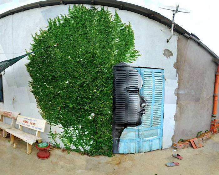 15+ Amazing Photos Of Street Art Fusing With Nature-13