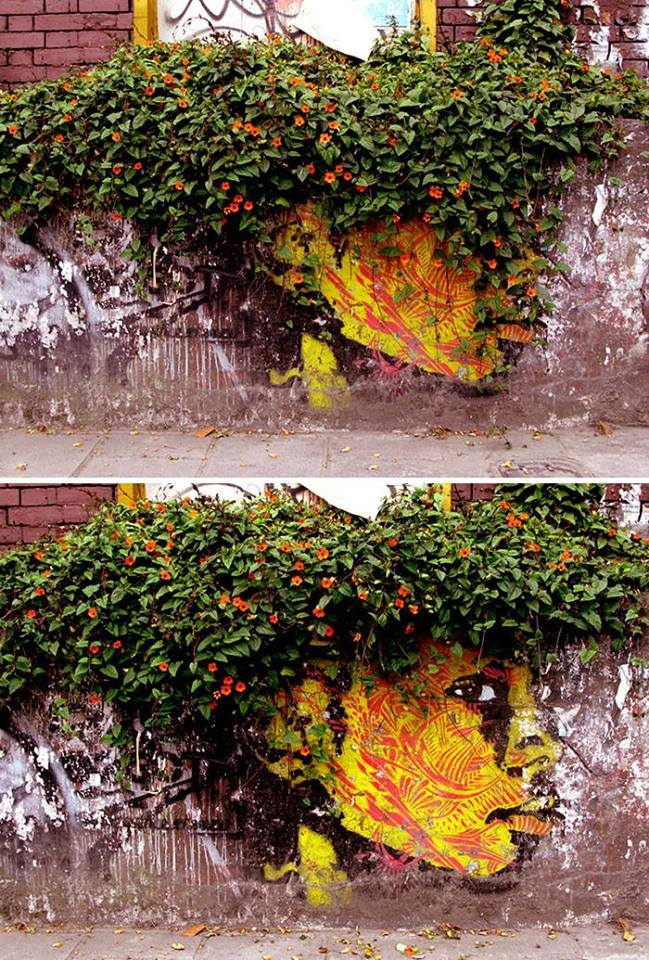 15+ Amazing Photos Of Street Art Fusing With Nature-14