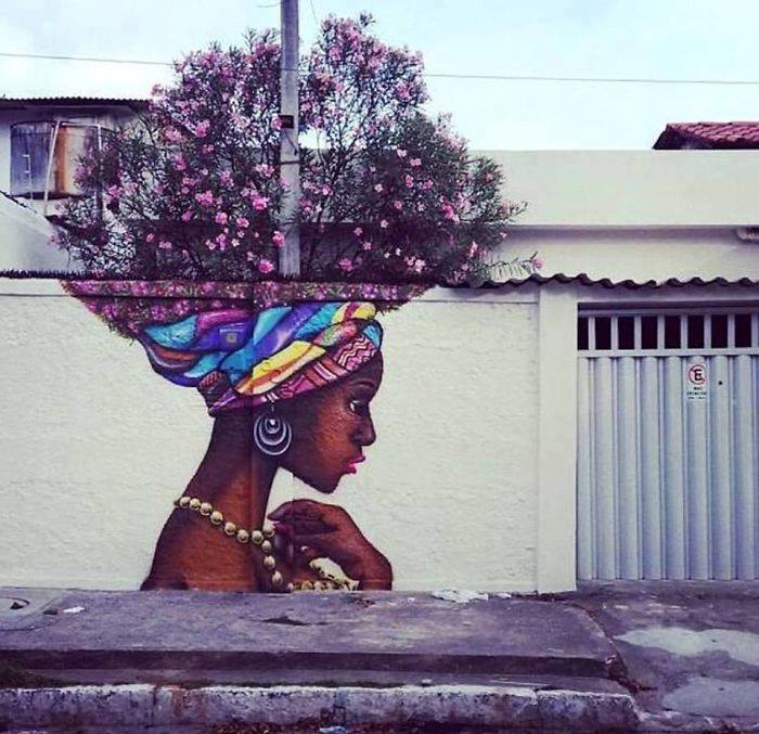 15+ Amazing Photos Of Street Art Fusing With Nature-2