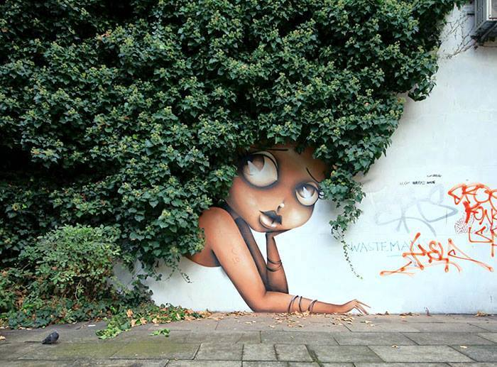 15+ Amazing Photos Of Street Art Fusing With Nature-4