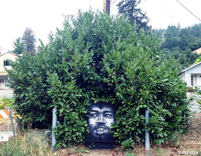 15+ Amazing Photos Of Street Art Fusing With Nature-8
