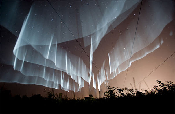 16. It's a lie a couple of tube lights to create fake visuals of the northern lights of Iceland.-1