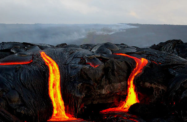17. The visuals are double photoshopped as nobody can get so close to hot burning lava.-1