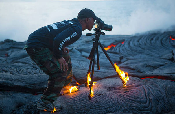 17. The visuals are double photoshopped as nobody can get so close to hot burning lava.-2