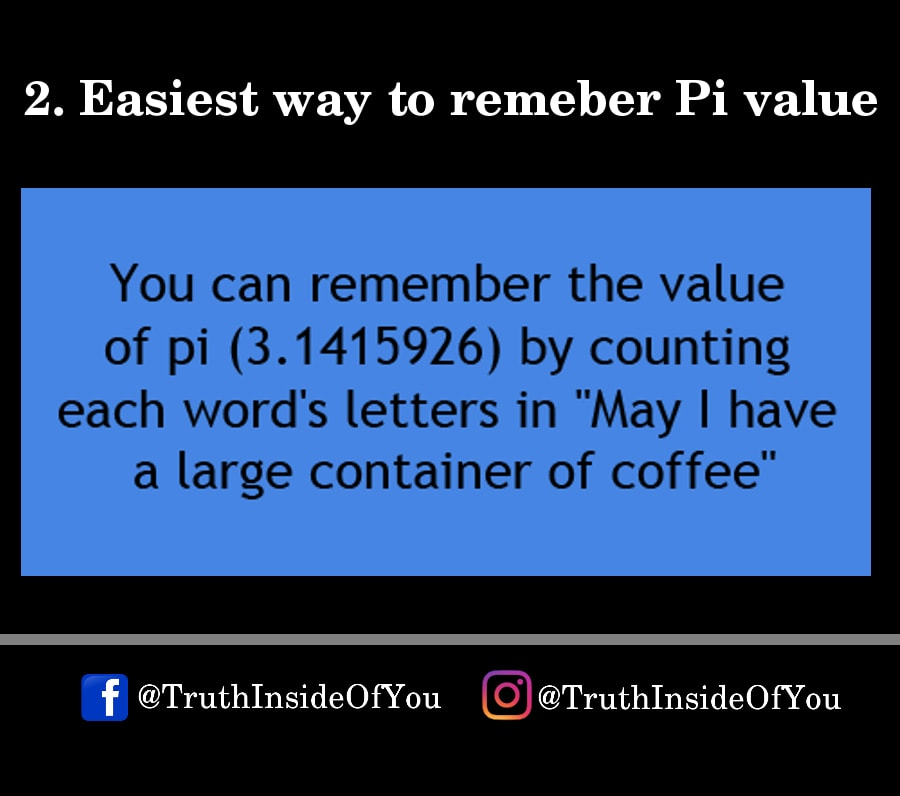 2. Easiest way to remeber Pi value