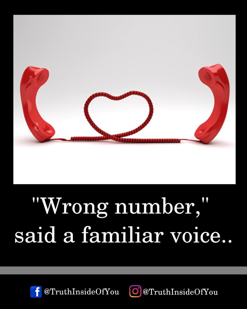2. Wrong number, said a familiar voice