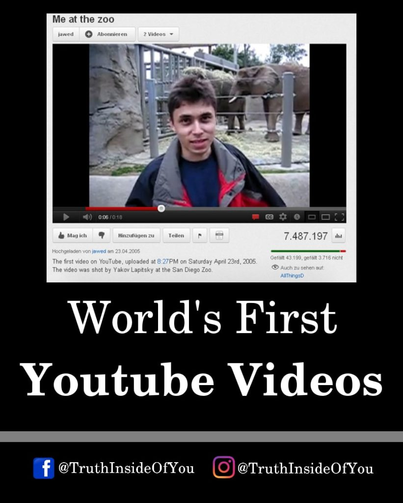 21. World's First Youtube Video