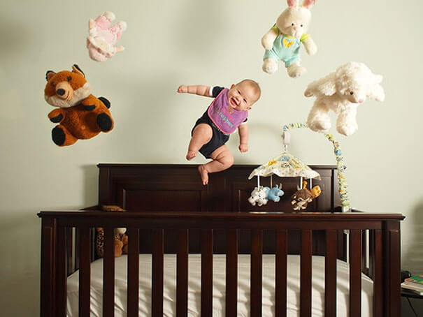 22. Babies can't bounce that high on their own, so apparently, it's a lie.-1