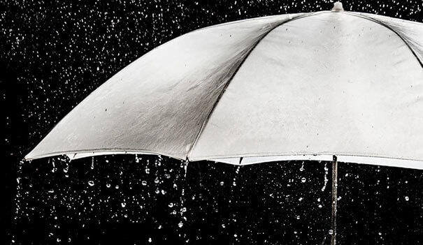 28. Raindrops don't always keep falling under your umbrella.-1