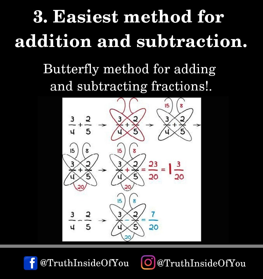 3. Easiest method for addition and subtraction.