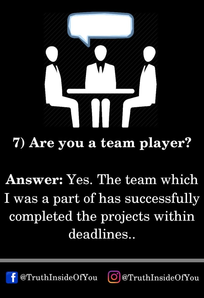 7. Are you a team player_