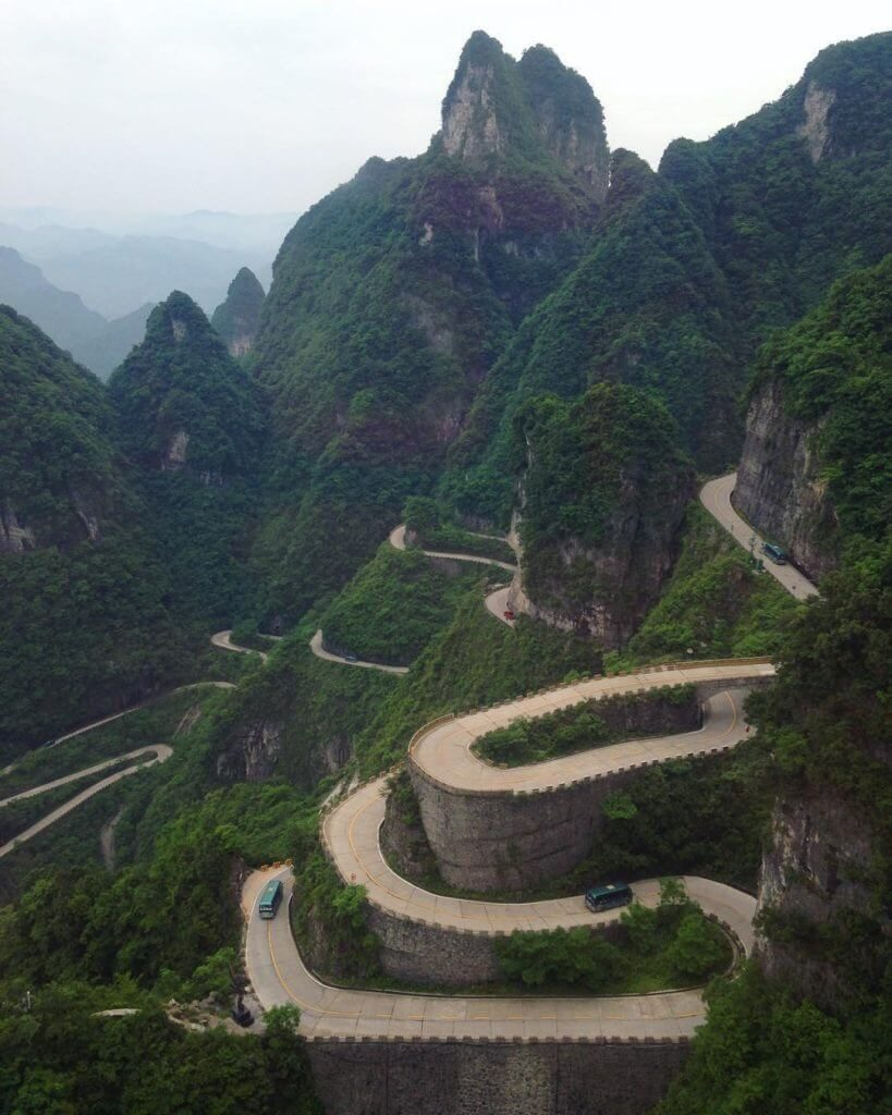 9. Tiananmen Mountain Road, China
