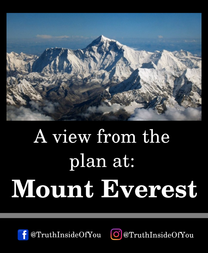 A view from the plan at_ Mount Everest