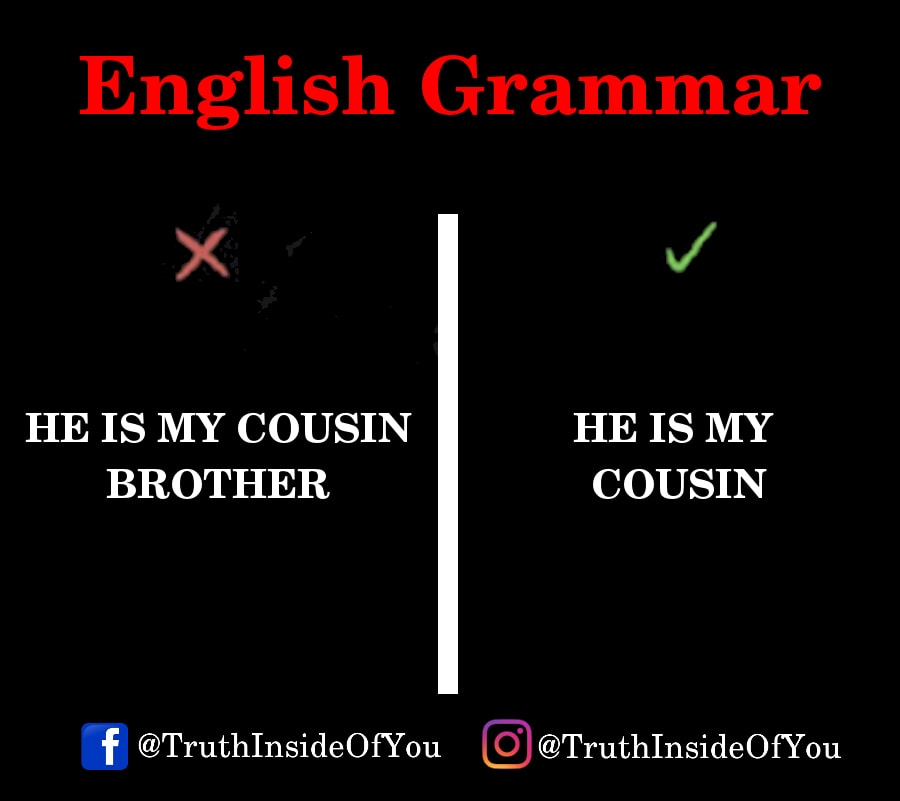 HE IS MY COUSIN