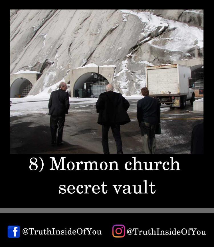 8. Mormon church secret vault