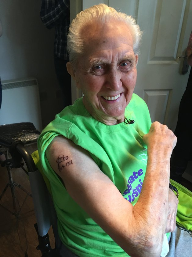 Grandpa Breaks World Record Tattoo