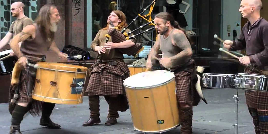 Watch The Magical Drummers of Scotland Known As Clanadonia