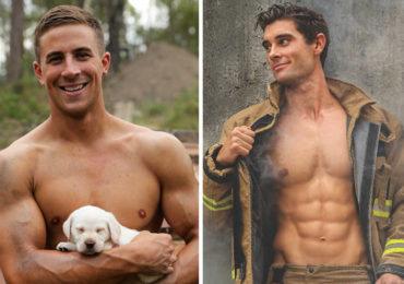 Australian Firefighters Pose Topless With Animals For 2019 Charity Calendar