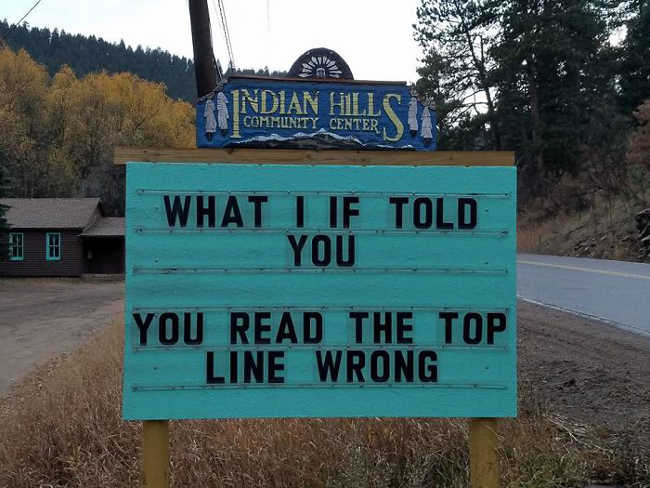 Funniest Signs Are Covering the Streets of Colorado - 7