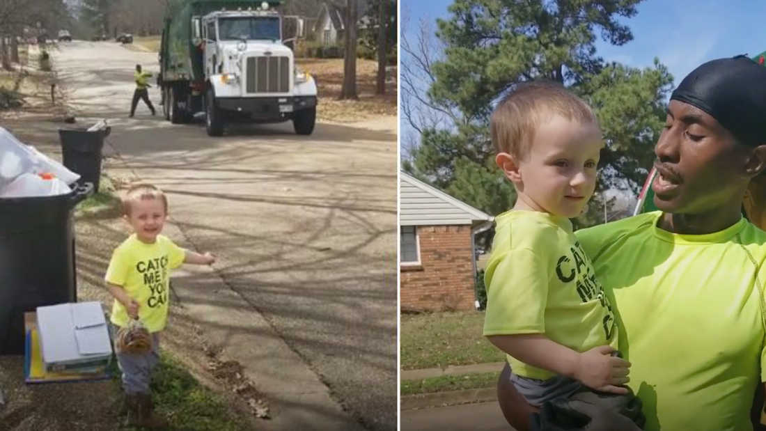 This Adorable Toddler Got Cookies For His Beloved Garbagemen And He Got A Wonderful Treat In Return