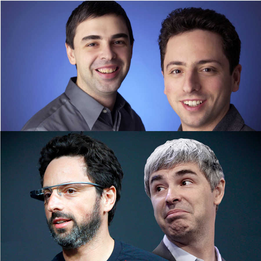 4. Larry Page and Sergey Brin