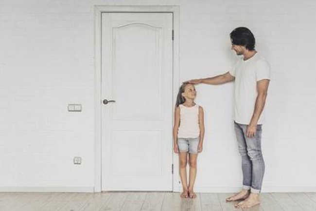5. A person's height is determined by their father