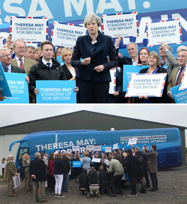 7. The Launching Of The Party's Campaign Bus By Theresa May In Northumberland
