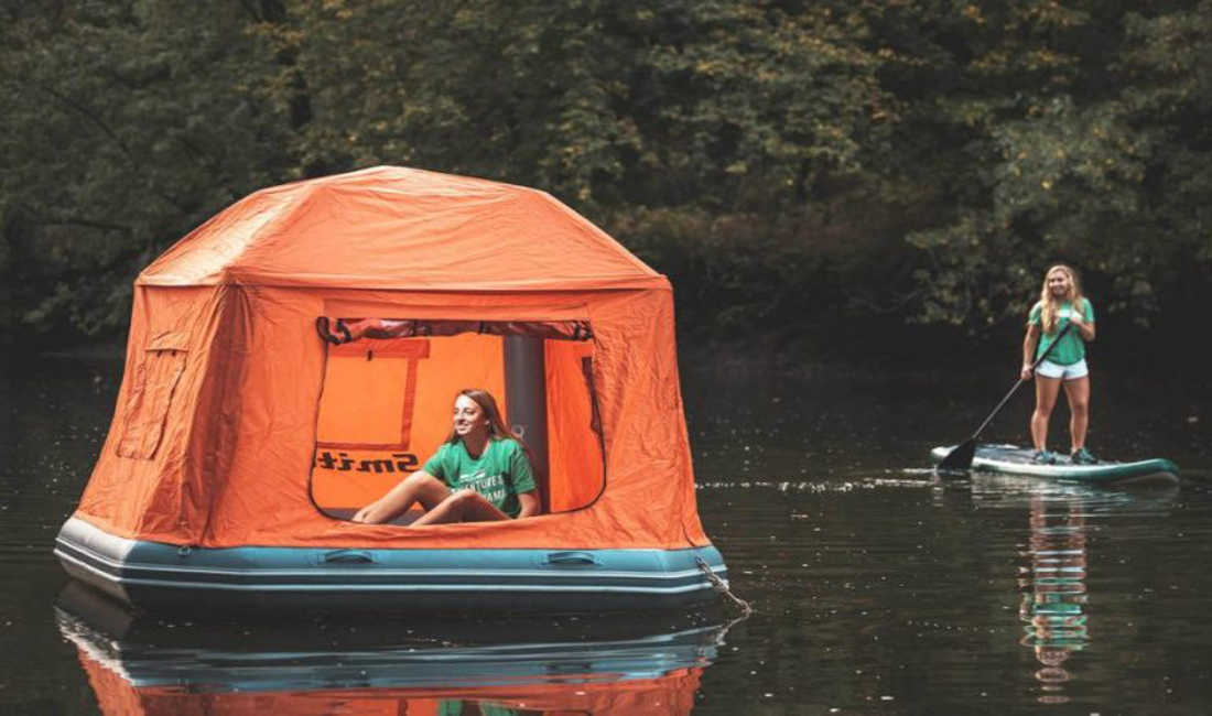 With The Worlds First Floating Tent You Can Live in Nature Forever