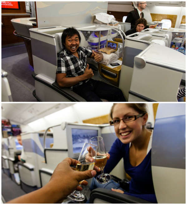1. Business Class– First time