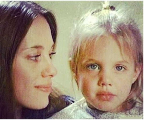 2. Angelina Jolie and her mother