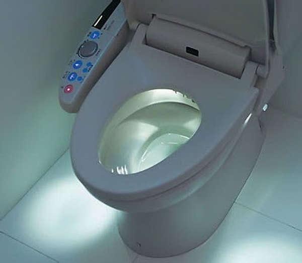 5. Lighted toilet