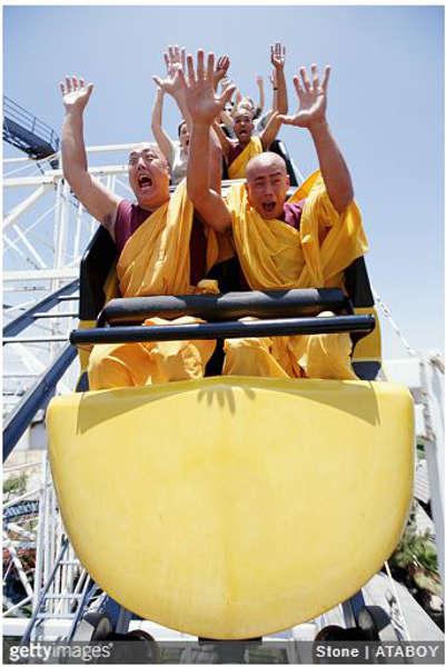 5. Monks are happy