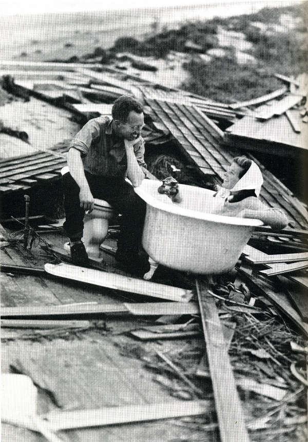 6. Katherine Hepburn posing in a bathtub