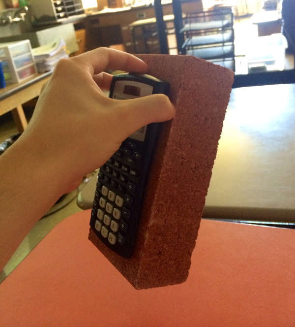 Glued calculator