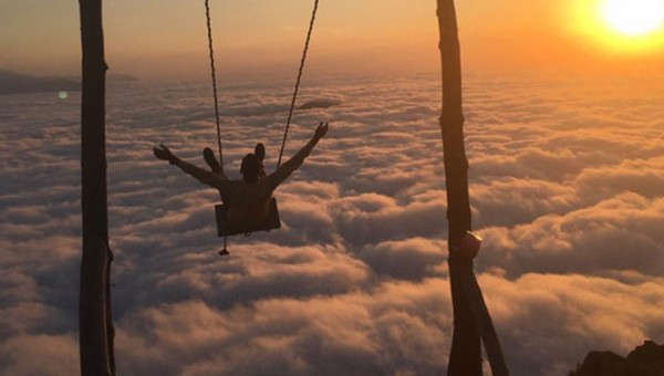 Swing above the clouds, Turkey