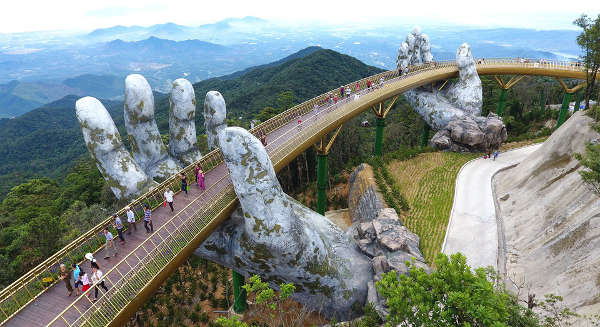 The Golden Bridge in Vietnam