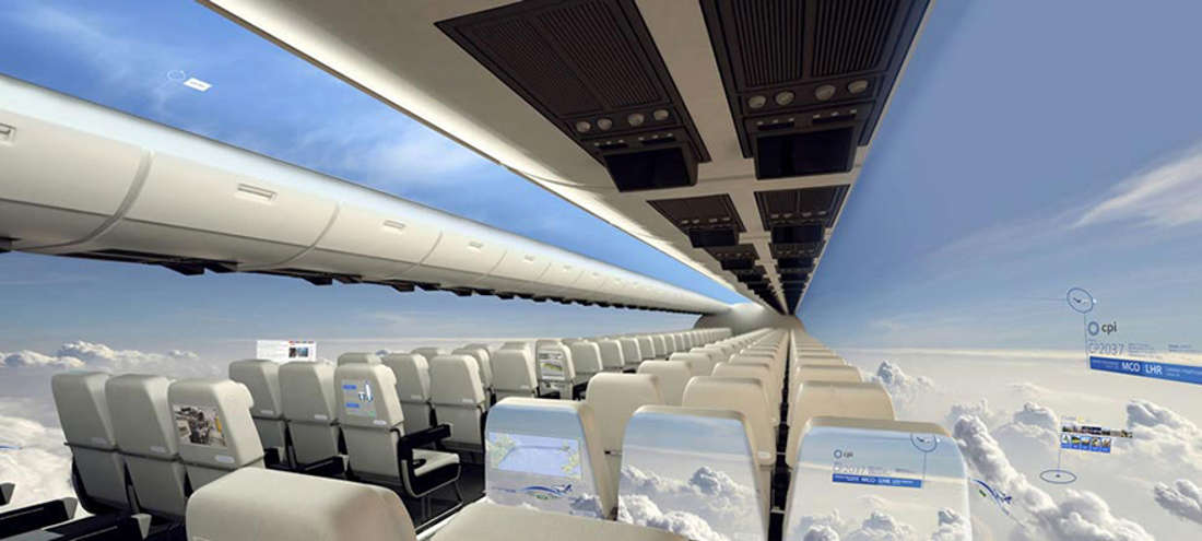 Windowless Planes Will Give Passengers a Mesmerizing Panoramic View of the Sky