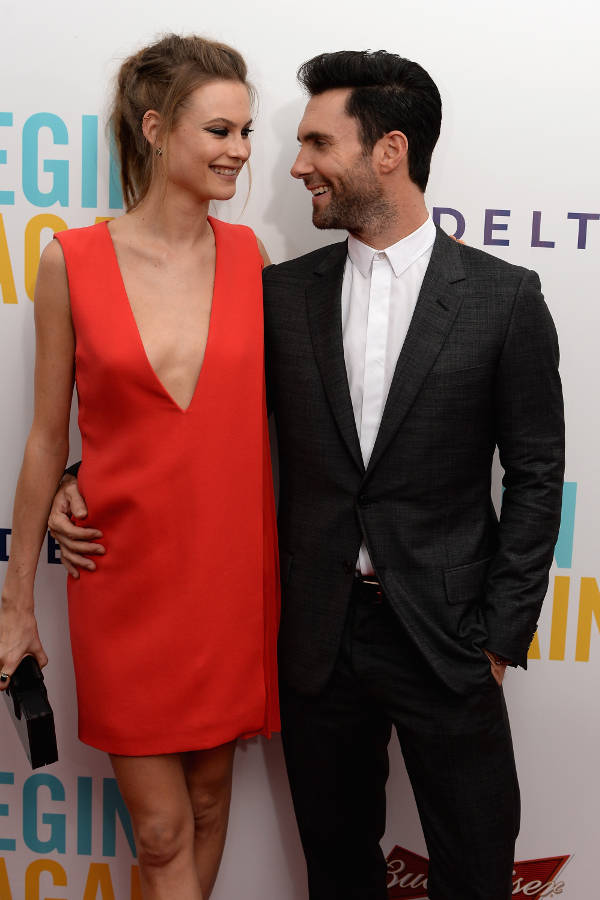 4) Behati Prinsloo and Adam Levine