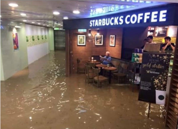 7. Starbucks and flood