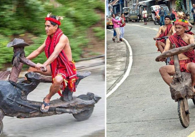 This Native Tribe In The Philippines Creates Hand-Carved Wooden Bikes