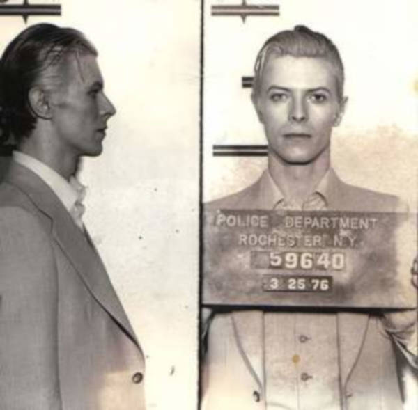 7. David Bowie's arrest