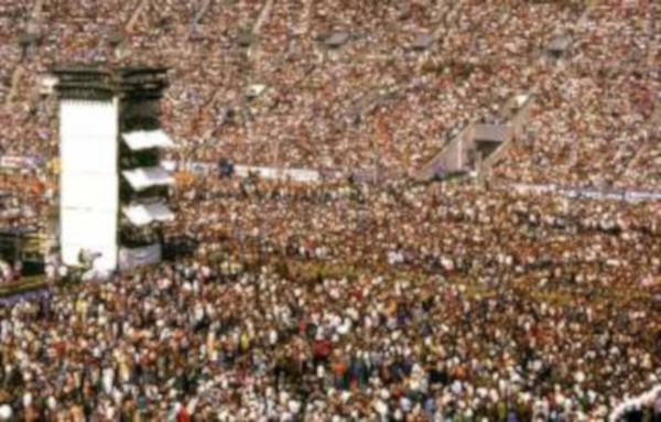 8. An overwhelming crowd at the Rock Festival