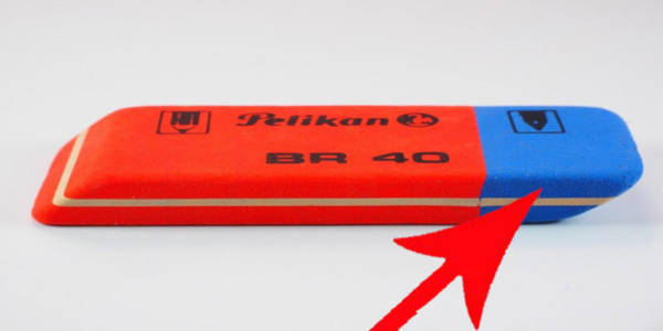 8. The blue end of an eraser