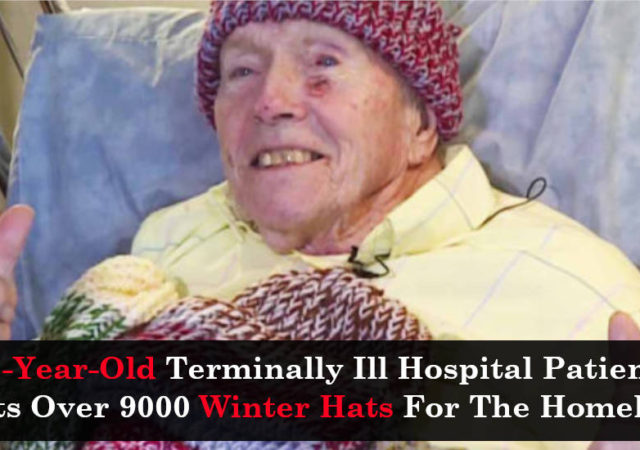 91-Year-Old Terminally Ill Hospital Patient Knits Over 9000 Winter Hats For The Homeless