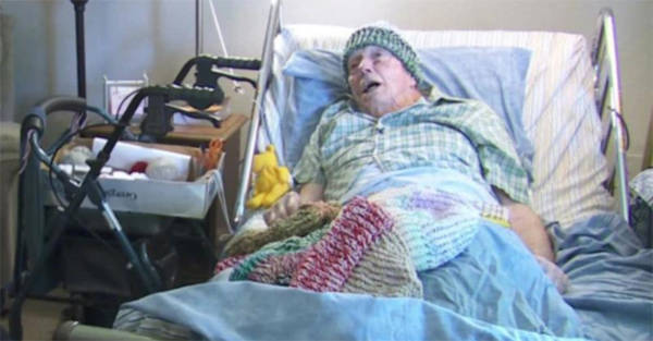 91-year-old terminally ill hospital patient knits over 9000 winter hats